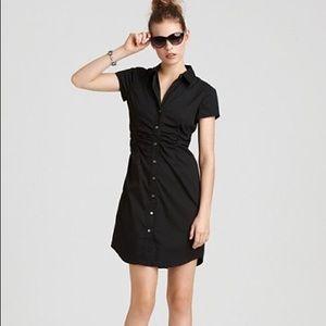 Theory Jaleen short sleeve mini button down dress